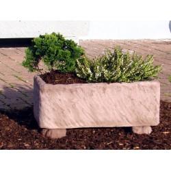 Pflanztrog Werksandstein rötlich-braun