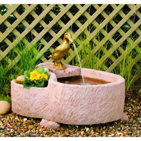 Wasserspiel ROMA Werksandstein rötlich-braun